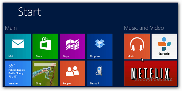Music Start Screen