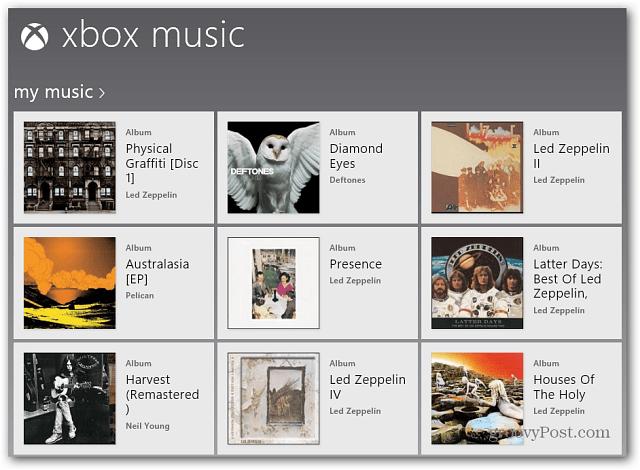 My Music Xbox Music App
