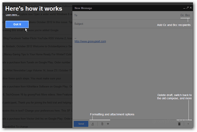 New Gmail Compose Tutorial