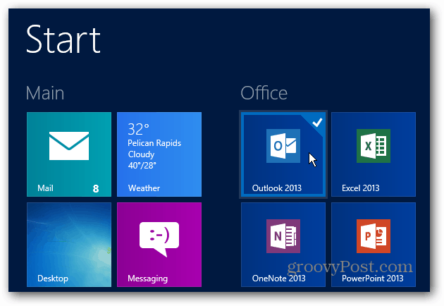 Office Start Screen