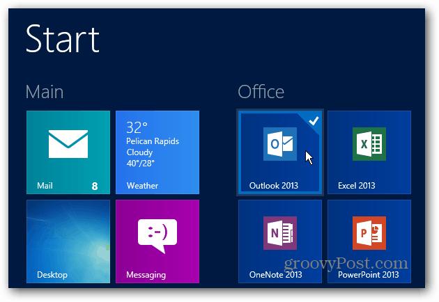 Office Start Screen
