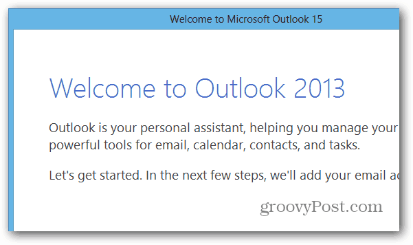 Outlook in Office 2013