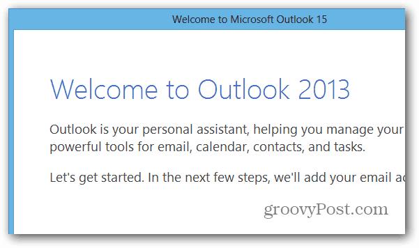 Outlook in Office 2013