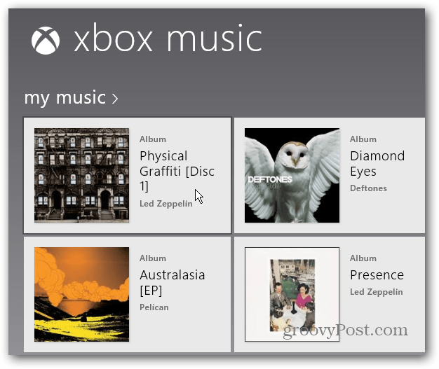 Pick Album Xbox Music