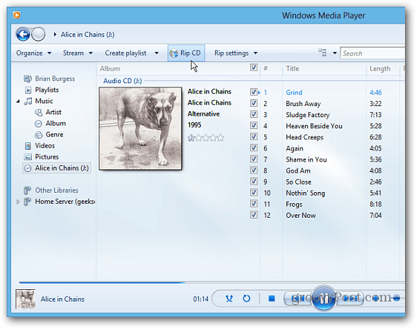 Where is Windows Media Player in Windows 8?