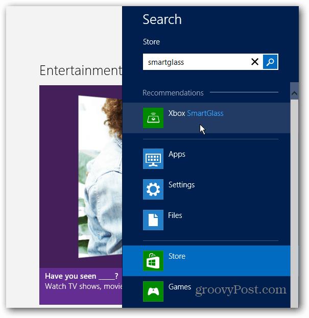 Search SmartGlass