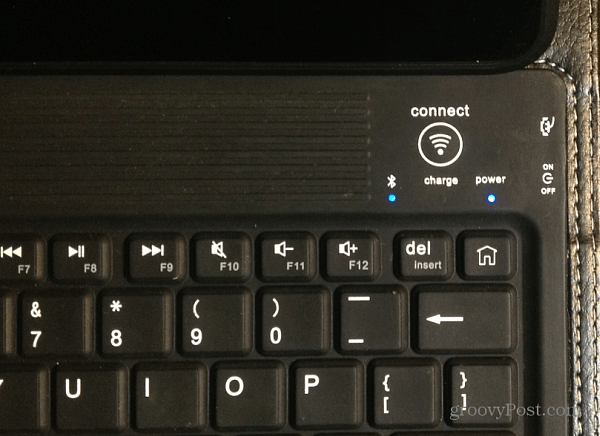Turn on Bluetooth Keyboard