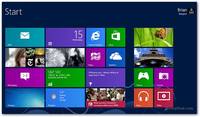 Windows 8 Live Tiles Start Screen