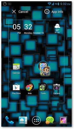 add apps to a folder