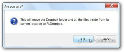 confirm new dropbox location