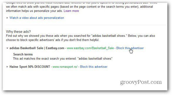 google ads block advertiser