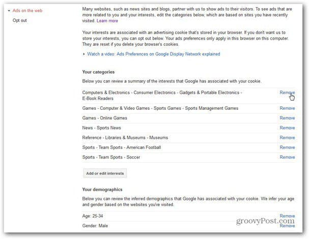 google ads preferences manager web ads