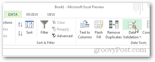 how to add drop down button in excel 2013
