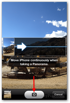 Take iPhone iOS Panoramic Photo - Pan Camera