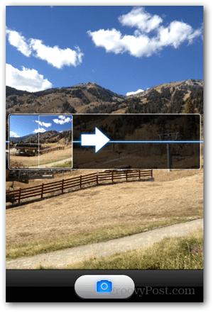 Take iPhone iOS Panoramic Photo - Pan Camera