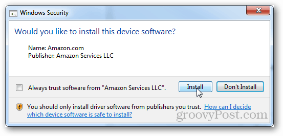 confirm install