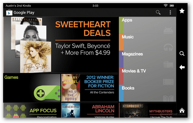 google play on kindle fire hd