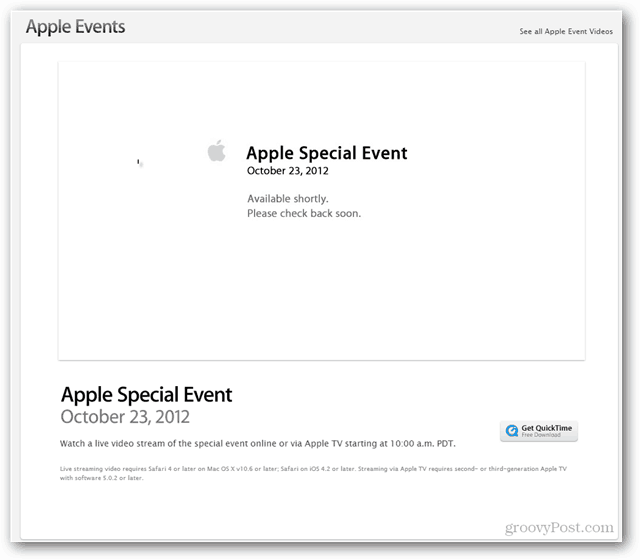 Apple Event October 23, 2012