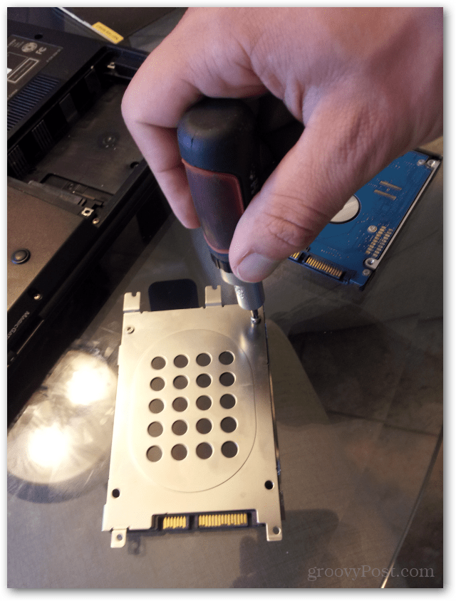 install bracket on ssd