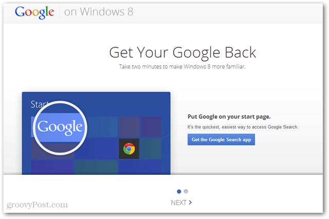 getyourgoogleback - Google Search app for Windows 8