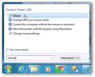 windows 7 mouse settings