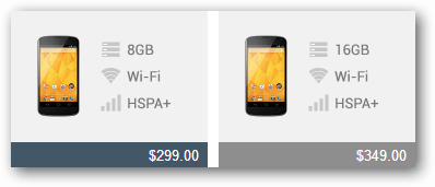 nexus 4 prices