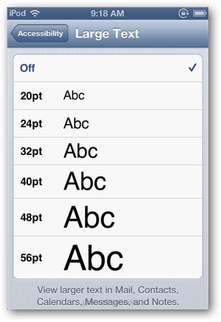 Choose a font size