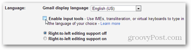 enable languages show more settings