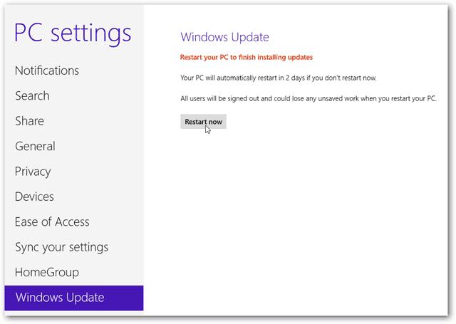 restart pc to finish installing