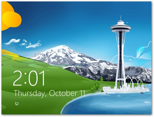 windows 8 login screen