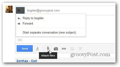new gmail compose reply