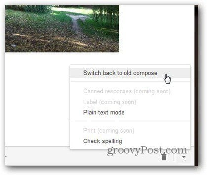 new gmail compose switch back