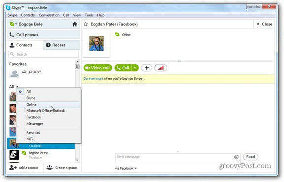 skype select contacts