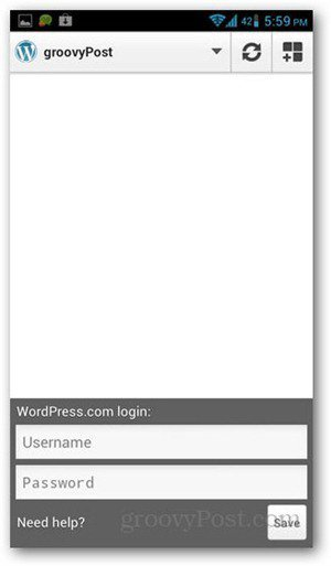 wordpress-for-android-stats-login