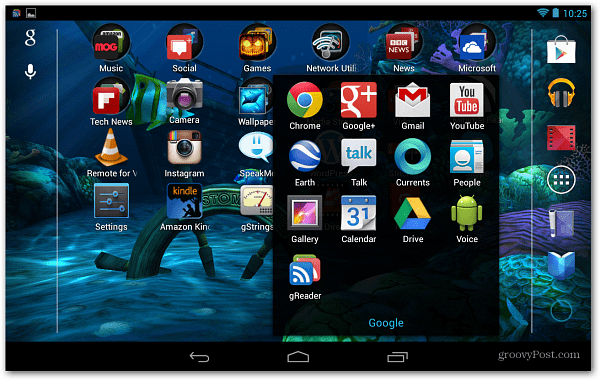 Android Nexus 7 Home Screen