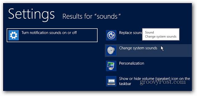 Change System Sounds
