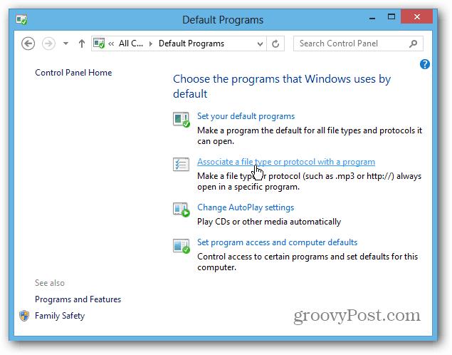 Chose Windows 8 Programs