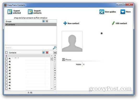 CopyTrans Contacts 3
