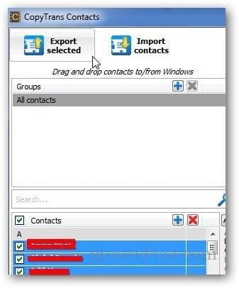CopyTrans Contacts 5