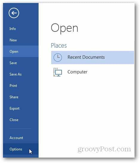 Customize Word Quick Access Toolbar