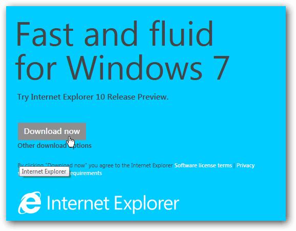 Download IE 10