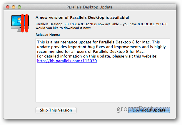 Download Parallels Desktop Update