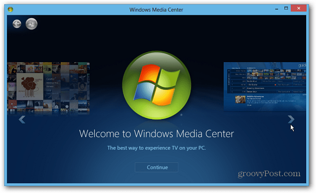Launch Windows Media Center