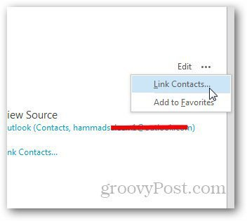 Merge Contacts Outlook 2