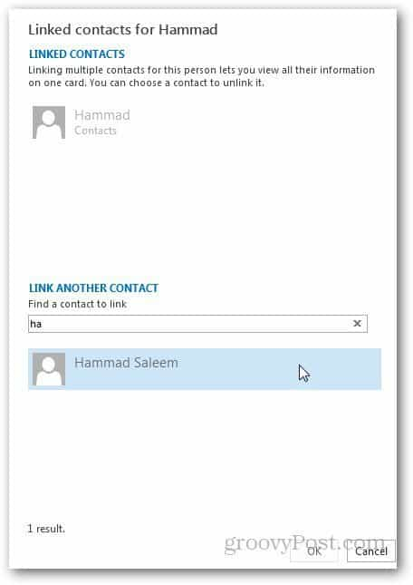 Merge Contacts Outlook 3