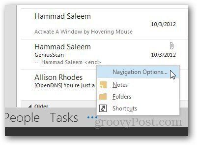 Navigation Pane Outlook 2