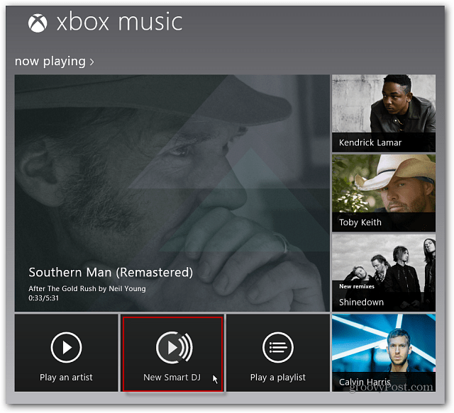 New Smart DJ Xbox Music