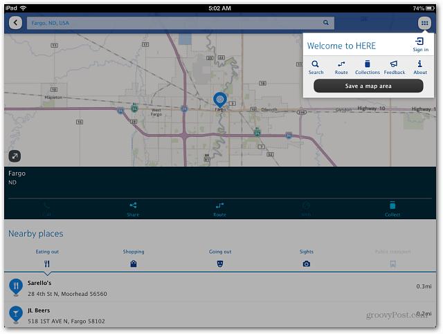 Nokia HERE maps iOS