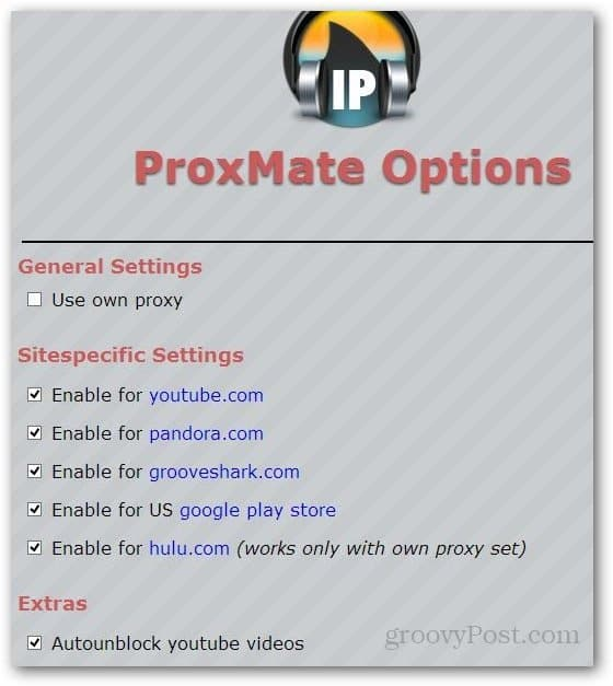 Unblock Websites with ProxMate for Firefox or Chrome