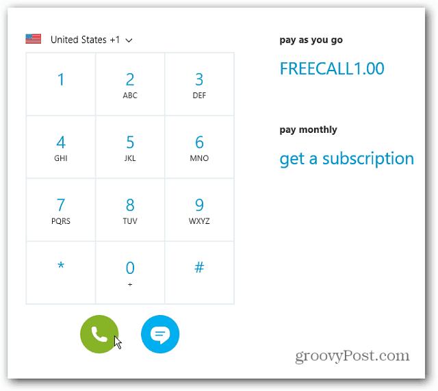 Skype Credit Calling